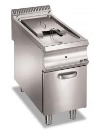 Friteuse professionnelle gaz sur coffre 18 litres avec valve électrique - MBM - DOMINA 980