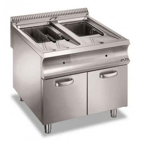 Friteuse professionnelle gaz sur coffre 2 x 18 litres - MBM - DOMINA 980