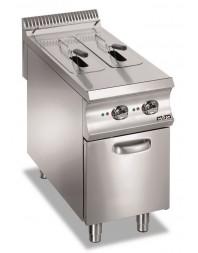 Friteuse professionnelle électrique sur coffre 2 x 8 litres - MBM - DOMINA 980