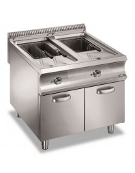 Friteuse professionnelle électrique sur coffre 2 x 18 litres - MBM - DOMINA 980