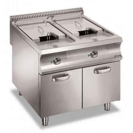 Friteuse professionnelle électrique sur coffre 2 x 21 litres - MBM - DOMINA 980