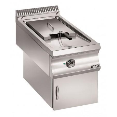 Friteuse professionnelle gaz, sur coffre avec valve électrique en version suspendue 18 litres - MBM - DOMINA 980