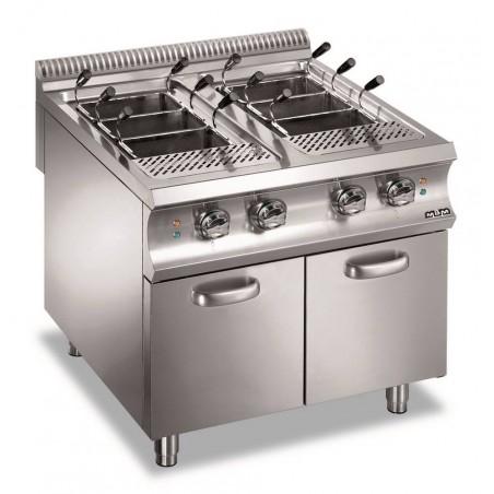 Cuiseur à pâtes professionnel électrique 2 x 40 litres sur coffre - MBM - DOMINA 980