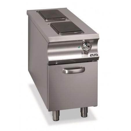 Réchaud sur coffre - 2 plaques électriques - 2 x 3 kW - MBM- DOMINA 1100