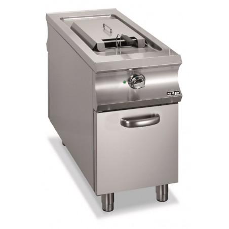 Friteuse professionnelle électrique, 1 cuve 18 litres sur placard fermé 2 portes - MBM - DOMINA 1100