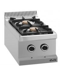 Réchaud à poser - 2 feux vifs - gaz - brûleurs 2 x 5.5 kW - MBM - MAGISTRA 700