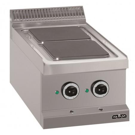 Réchaud à poser 2 plaques carrées électriques 2 x 2.6 kW - MBM - MAGISTRA 700