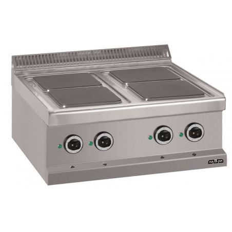 Réchaud à poser 4 plaques carrées électriques 4 x 2.6 kW - MBM - MAGISTRA 700