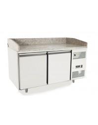 Table à pizzas 400 x 600 - Tropicalisée - 390 litres - 2 portes - ATOSA