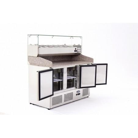 Table à pizzas GN 1/1 - 386 litres - 3 portes - ATOSA