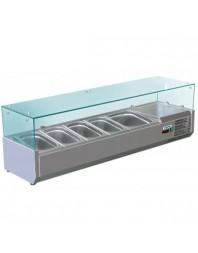Vitrine à ingrédients réfrigérée à poser - bac GN 1/4 x 7 - VRX1500-330