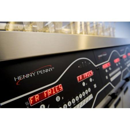 Friteuse haut rendement Henny Penny électrique 2 x 1/2 cuve ( 2x7 litres ) avec relevage - Gamme Evolution Elite