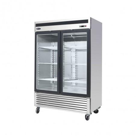 Armoire réfrigérée 2 portes vitrées négative - 1335 litres