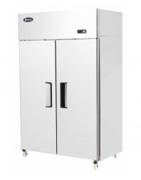 Armoire réfrigérée compacte 1200 bi-temp positive et négative 2 portes pleines - 900 litres