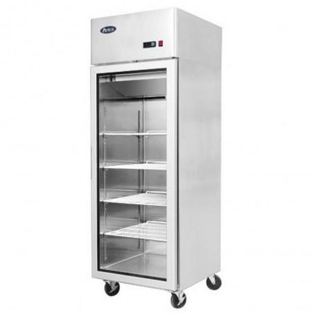Armoire réfrigérée compacte 600 négative 1 porte vitrée - 450 litres