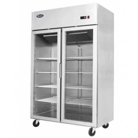 Armoire réfrigérée compacte 1200 positive 2 portes vitrées - 900 litres