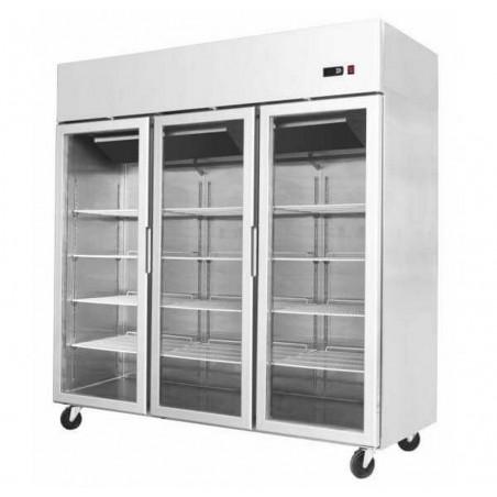 Armoire réfrigérée compacte 1800 positive 3 portes vitrées - 1390 litres