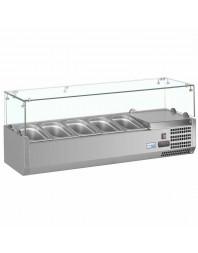 Vitrine à ingrédients réfrigérée à poser - bac GN 1/4 x 5 - VRX1200/330