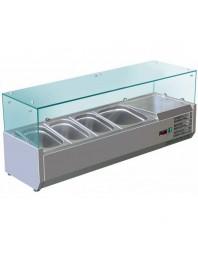 Vitrine à ingrédients réfrigérée à poser - bac GN 1/3 x 4- VRX1200/380