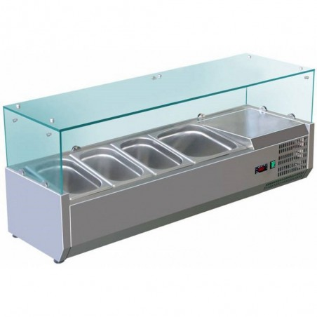 Vitrine à ingrédients réfrigérée à poser - VRX1200/380