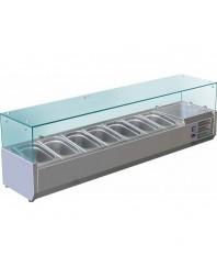 Vitrine à ingrédients réfrigérée à poser - bac GN 1/4 x 7 - VRX1600/330
