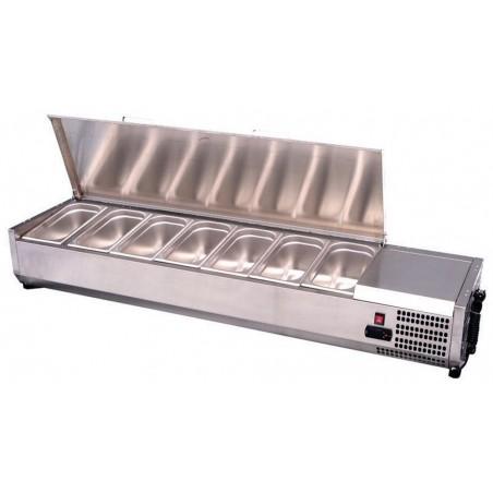 Présentoir à ingrédients réfrigéré couvercle inox à poser - VRX1500/380I