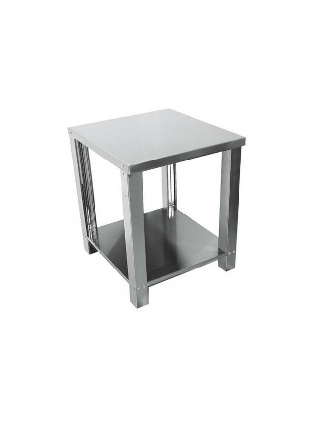 support en acier inox avec plan de travail pour formeuse. Black Bedroom Furniture Sets. Home Design Ideas