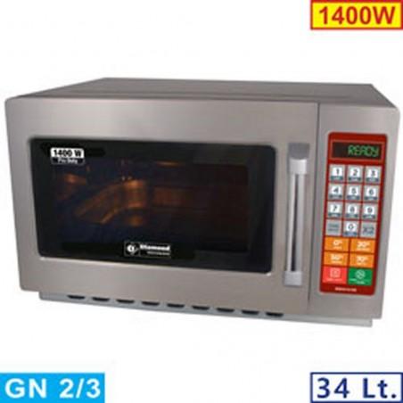 "Four micro-ondes inox GN 2/3 ""Pro Duty"" - 1400 W - 34 litres - DIAMOND"