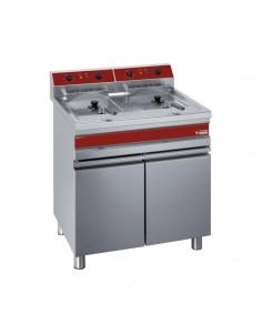Friteuse professionnelle électrique sur coffre - 2 x 14 litres - DIAMOND