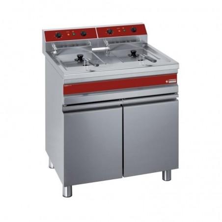 Friteuse professionnelle électrique sur meuble - 2 x 14 litres - F14+14E/M - DIAMOND