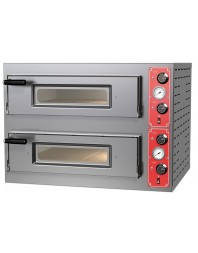 Four à pizzas électrique chambre double 4 x ø 30 cm - modèle SIX M8 - Pizza Group