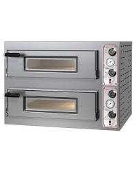 Four à pizzas électrique chambre double 4 x ø 30/34 cm - modèle Entry Basic M8 - Pizza Group