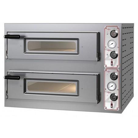 Four électrique chambre double 4 x ø 30/34 cm - modèle Entry Basic M8 - Pizza Group