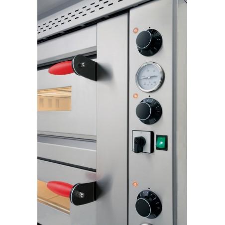Four électrique Pyralis en version mécanique 1 chambre 6 x ø 30/34 cm - modèle M6- Pizza Group