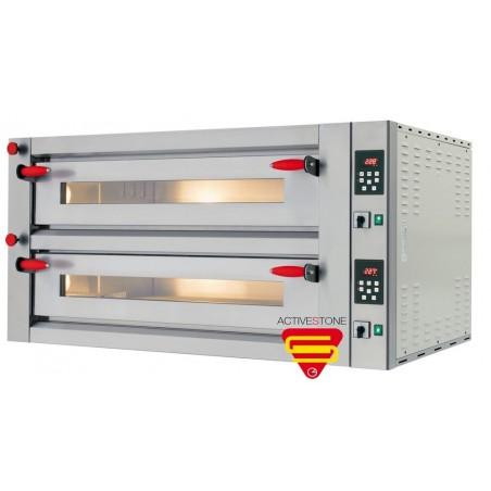 Four électrique Pyralis en version mécanique chambre double 9 x ø 30/34 cm - modèle M18 - Pizza Group