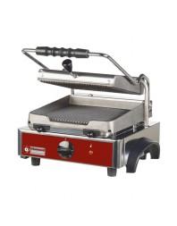 Grill panini électrique avec plaques en fonte rainurées -surface utile 225 x 255 mm - DIAMOND