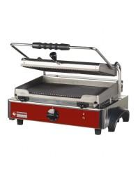 Grill panini électrique avec plaques en fonte rainurées - surface utile 365 x 255 mm - DIAMOND