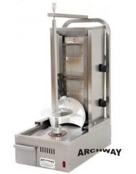 Machine à kebab en version compacte - gaz - 2 brûleurs - ARCHWAY