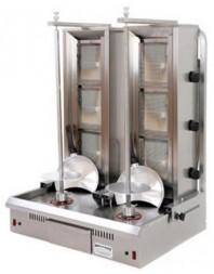 Machine à kebab à double grill - gaz - 3 brûleurs - ARCHWAY
