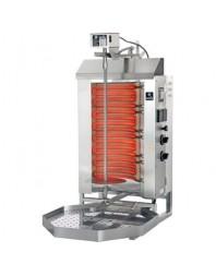Machine à kebab- électrique - Capacité 30 kilos -avec cuve rectangulaire pour graisse 500 x 350 mm- POTIS