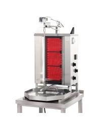 Machine à kebab- électrique - Capacité 30 kilos -avec cuve octogonale moteur au-dessus - POTIS