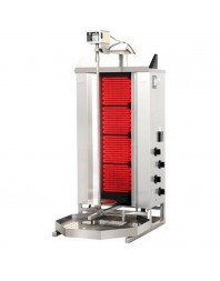 Machine à kebab- électrique - Capacité 50 kilos -avec cuve octogonale moteur au-dessus - POTIS