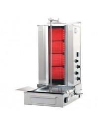 Machine à kebab- électrique - 4 zones - Capacité 50 kilos -avec cuve octogonale moteur au-dessous - POTIS