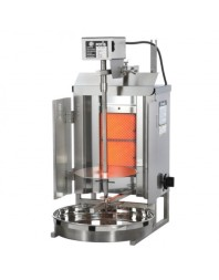Machine à kebab- gaz - 2 zones - Capacité 7 kilos - POTIS