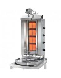 Machine à kebab- gaz - 4 zones - Capacité 70 kilos - POTIS