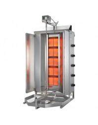 Machine à kebab- gaz - 5 zones - Capacité 120 kilos - POTIS