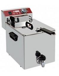 Friteuse à poser professionnelle 1 cuve 10 L électrique avec robinet de vidange - EF101-TN - DIAMOND