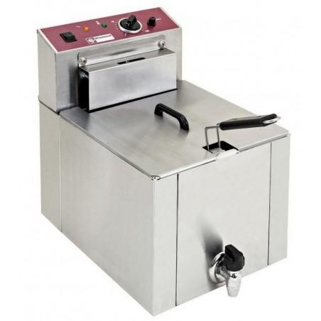 """Friteuse à poser professionnelle """"S-POWER"""" 12 L électrique avec robinet de vidange - F12TR/SP - DIAMOND"""