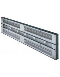 Rampe chauffante double infrarouge glo-ray - avec éclairage - HATCO