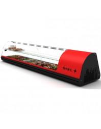 Vitrine réfrigérée à étage pour tapas - Profondeur 40 mm - Bacs GN 1/3 - SAYL